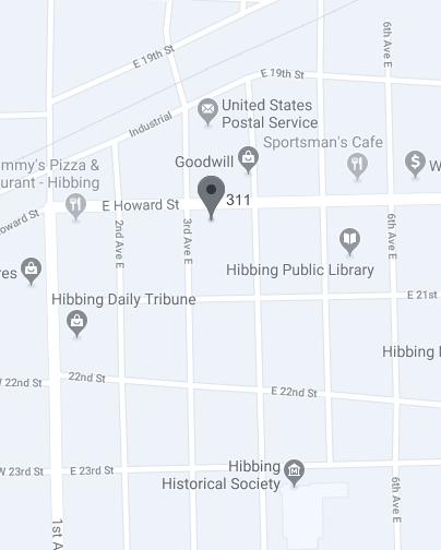 Map of Hibbing Office
